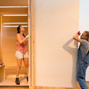 "TAAT HALL06: A Theater-Architecture Intervention with Scent at the ""No Discipline"" Fest in Zurich"