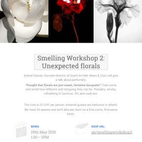 "Smelling Workshop 2: ""Unexpected Florals"""